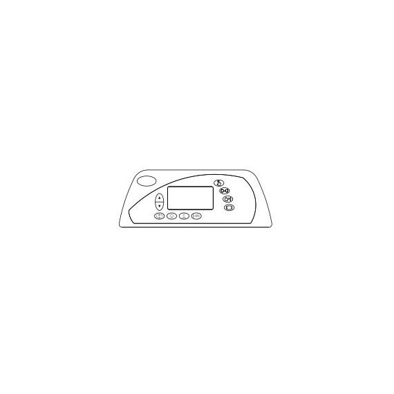 Clavier - Sundance Spas Série 880 / 1 pompe